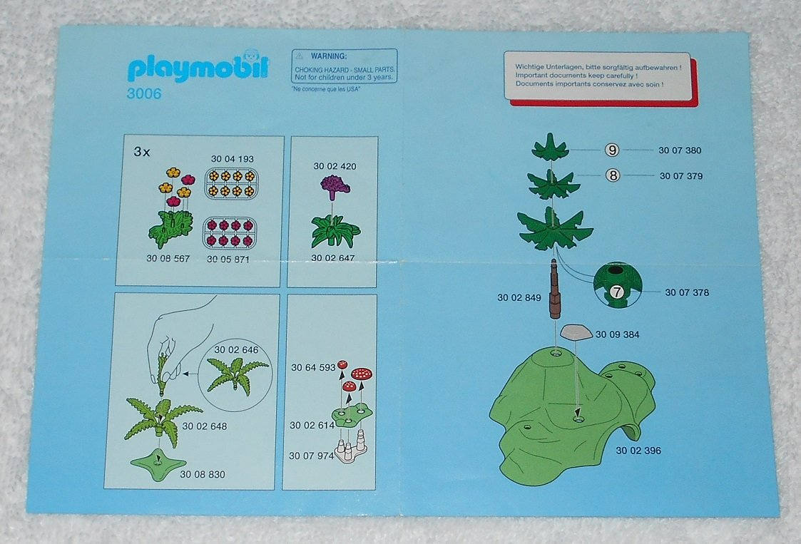 Playmobil 3006 - Forest Animals - 1997 - Instructions Only