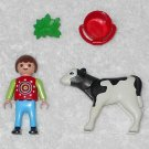 Playmobil 4624 - Boy With Calf - 2003 - Complete Set
