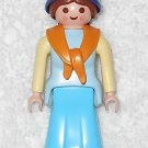 Playmobil - Noah's Wife w/ Headscarf - Blue Torso w/ Shawl / Blue Dress - From 3255 Noah's Ark 2003