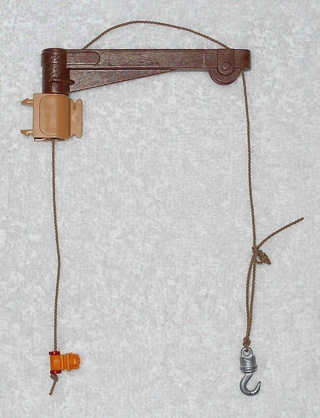 Playmobil - Davit Crane With Swivel Bracket, Rope & Hook - From 3255 Noah's Ark 2003