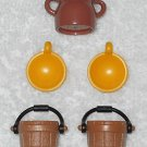 Playmobil - Two Buckets, Two Bowls & One Jar - From 3255 Noah's Ark 2003