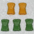 Playmobil - Five Hay Bales- Green & Yellow - Part # 30236160 / 30236150 - From 3255 Noah's Ark 2003