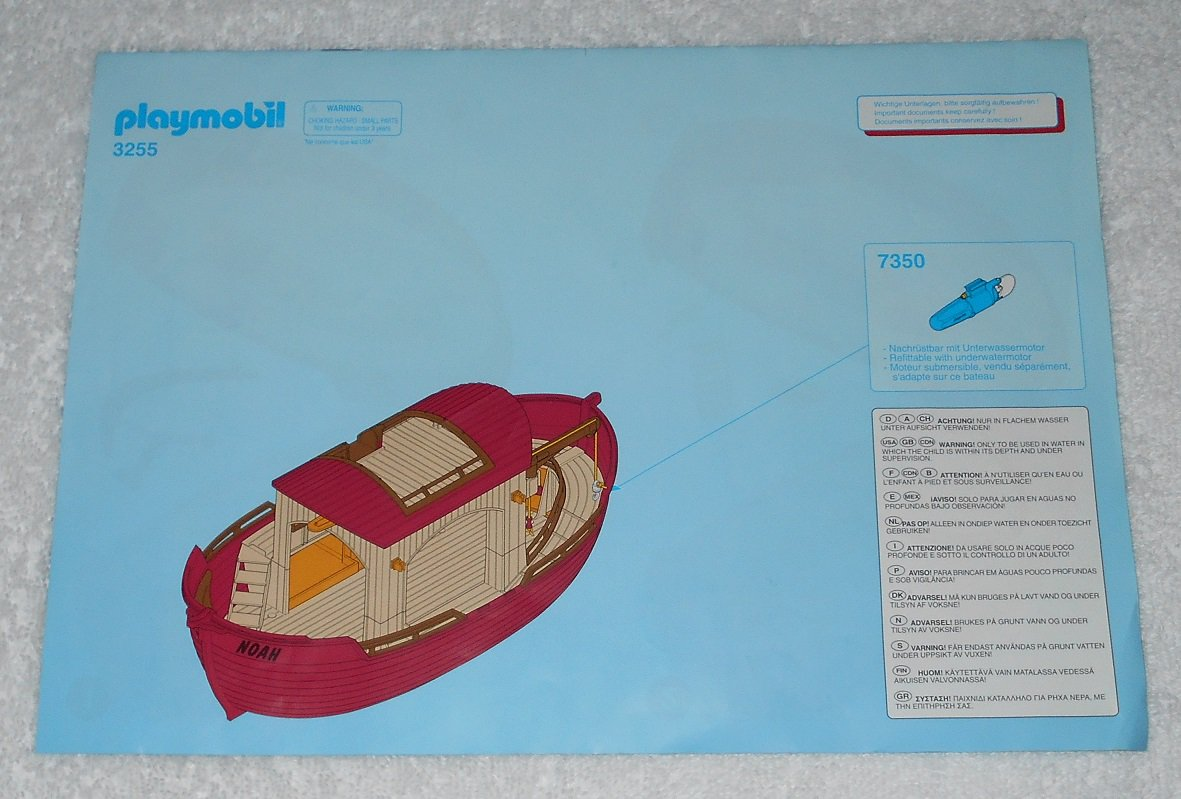 Playmobil 3255 - Noah's Ark - 2003 - Instructions Only