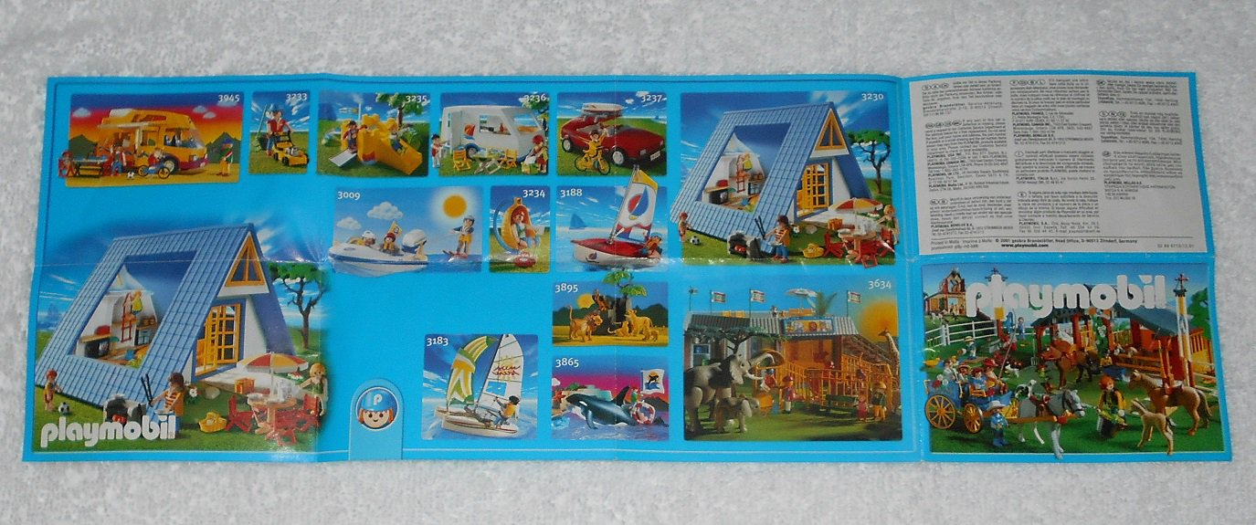 Playmobil - Toy Catalog - 2001 - Horse Stable Cover - Fold Out Format