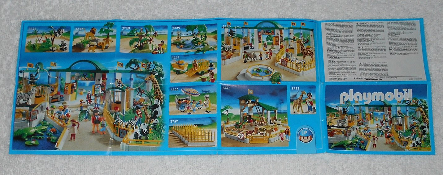 Playmobil - Toy Catalog - 2003 - Zoo Cover - Fold Out Format
