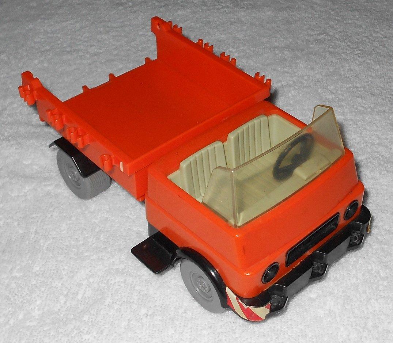 Playmobil - Construction Truck - Orange & Black - Vintage