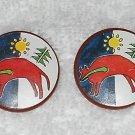 Playmobil - Indian Shields With Original Bison Logo Stickers - 2 Piece Set - Vintage
