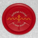 Metal Ashtray - To Your Health - A Votre Sante - French - Red
