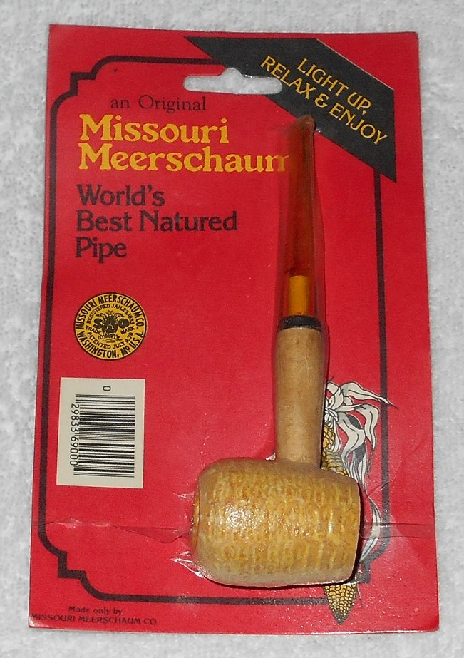 Missouri Meerschaum - 5 1/2 Inch Corn Cob Pipe With Straight Stem - Red Packaging - New