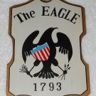The Eagle - Painted Wooden Sign - Made In Japan - Vintage