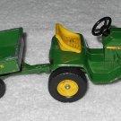 Ertl 591 - John Deere Lawn & Garden Tractor With Trailer - 1/16 Scale - Vintage