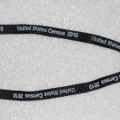 United States Census 2010 - Lanyard w/ Clip & Key Ring - Black Cloth Strap w/ White Lettering