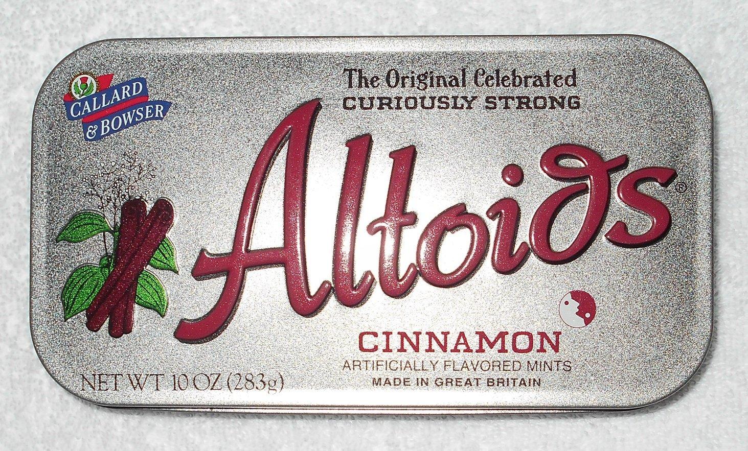 Altoids - Hinged Tin Box With Cinnamon Logo - Silver - Tin Box Only
