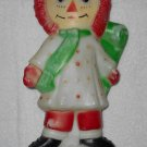 Empire - Raggedy Ann - Noel Christmas Decoration - Molded Plastic - Bobbs-Merrill - 1973