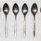 Community - Silver Plated Tea Spoons - Set Of 6 - Plain Pointed Handles - Vintage
