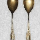BOC - Silver Plated Sugar Spoons - Set Of 2 - Ribbons & Flowers Pattern - Vintage