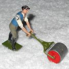 Britains Ltd - Man With Blue Vest Pushing Lawn Roller - Lead - Original Paint - Vintage