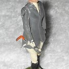 Britains Ltd - Lady With Grey Coat Holding Whip - Lead - Original Paint - Vintage