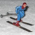 Barclay - Man On Skis - Blue & Red - Lead - Original Paint - Vintage