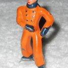 Barclay - Boy Ice Skater - Orange & Blue - Lead - Original Paint - Vintage