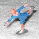 Barclay - Girl Figure Skater - Blue & Pink - Lead - Original Paint - Vintage