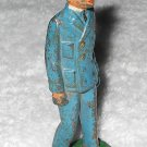 Barclay - Naval Officer In Blue Uniform - Cast Iron - Original Paint - Vintage