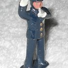 Barclay - Policeman With Whistle - Blue - Lead - Original Paint - Vintage