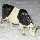 Britains Ltd - Cow Grazing - Black And White - Lead - Original Paint - Vintage