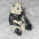 Britains Ltd - Panda Bear Sitting - Black And White - Lead - Original Paint - Vintage
