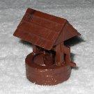 Plasticville - Wishing Well With Original Bucket - Brown - Plastic - Vintage
