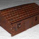Plasticville - Log Cabin - Brown - Plastic - Vintage