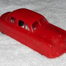 BHS - 1-183 - Red Four Door Car - Plastic - Made In USA - Vintage