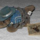 Texas Armadillo - Plush Stuffed Animal - 8 Inches - Blue Hat & Bandana - Dallas - Yippie Yi Yay