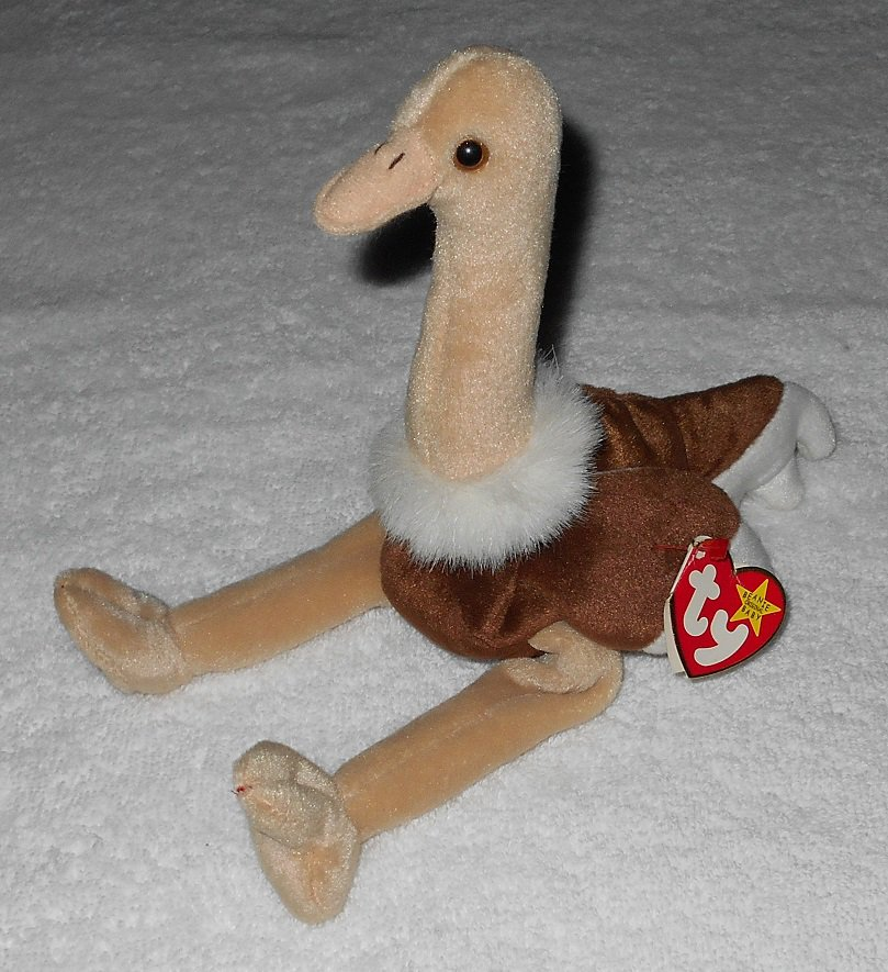 Ty Beanie Baby - Stretch - Ostrich - 4182 - Tags Attached - 1997 - Vintage