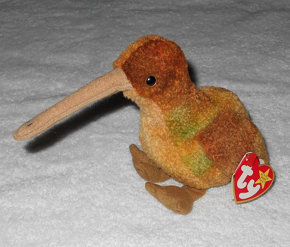 Ty Beanie Baby - Beak - Kiwi - 4211 - Tags Attached - 1998 - Vintage