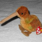 Ty Beanie Baby - Beak - Kiwi - 4211 - Tags Attached - 1998 - Vintage
