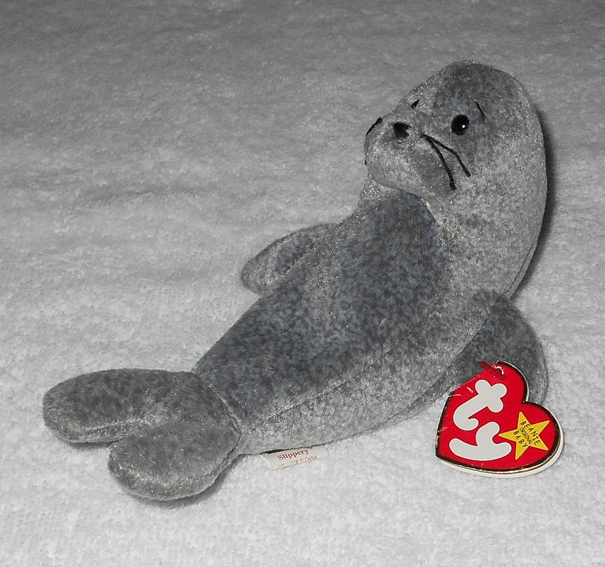 Ty Beanie Baby - Slippery - Seal - 4222 - Tags Attached - 1998 - Vintage