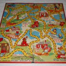 Uncle Wiggily - Board Game - # 4829 X - Milton Bradley - Red - Vintage - Board Only