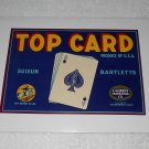 Top Card - Crate Label - Suisun Bartletts Pears - Ace Of Spades - Lambert Marketing - Vintage