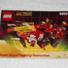 LEGO 6862 - Secret Space Voyager Super Model - M:Tron - 1991 - Instructions Only