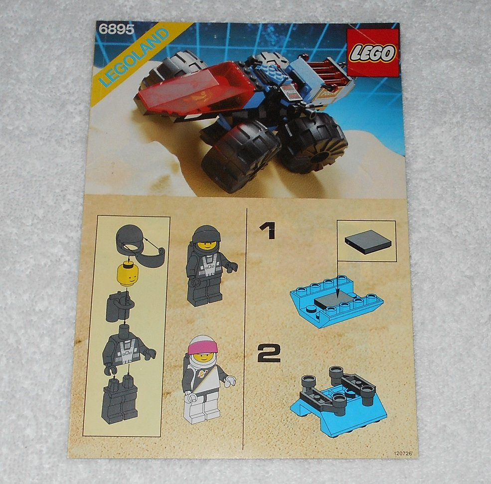 LEGO 6895 - Spy-Trak I - Space Police - 1989 - Instructions Only