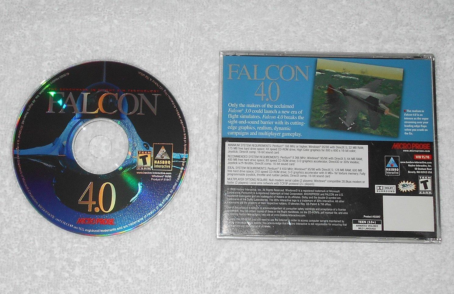 Falcon 4.0 - Flight Simulator PC Game - Hasbro Microprose - 2000 - CD-ROM & Case Only - English