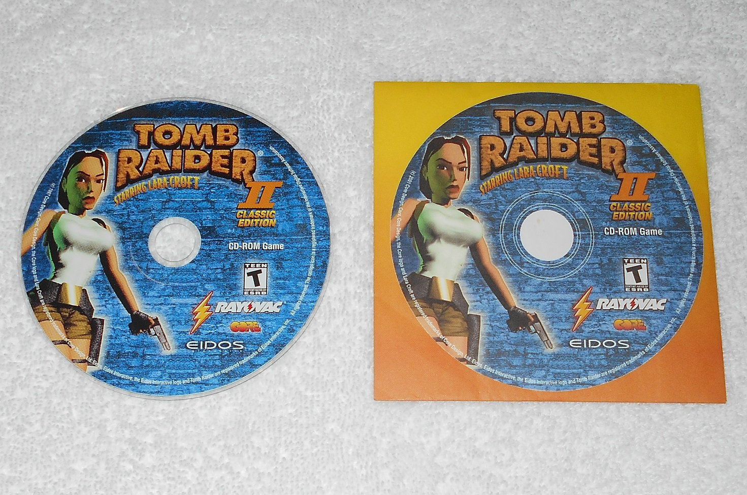 Tomb Raider II Classic Edition - PC Game - Rayovac - 2001 - CD-ROM & Sleeve Only - English