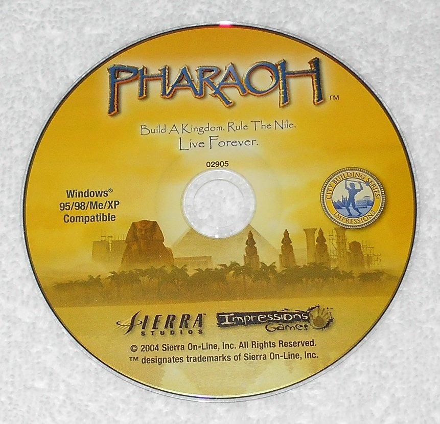 Pharaoh - PC Game - Sierra Studios Impressions - 2004 - CD-ROM Only - English
