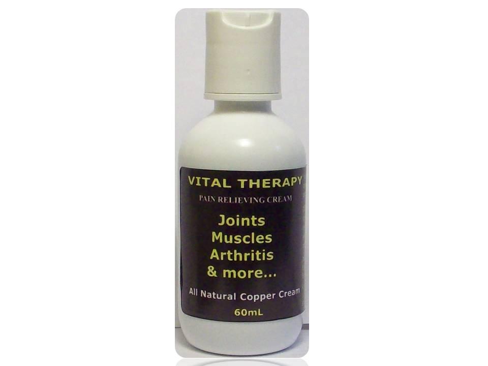 Vital Therapy Pain Relieving Copper Cream 2oz 60g