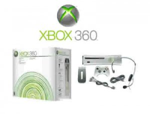 "Xbox 360 ""Premium Gold Pack"" Video Game System + One Racing Game"