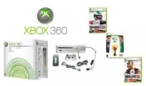 Xbox 360 Premium Gold Pack Mega Sports Bundle Video Game System with 3 Games