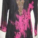Cotton black desiner tunic