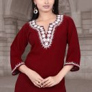 Scoop Neck cotton embroidery work Tunic/Top