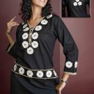 Ladies cotton blend Flower Embroidered Tunic